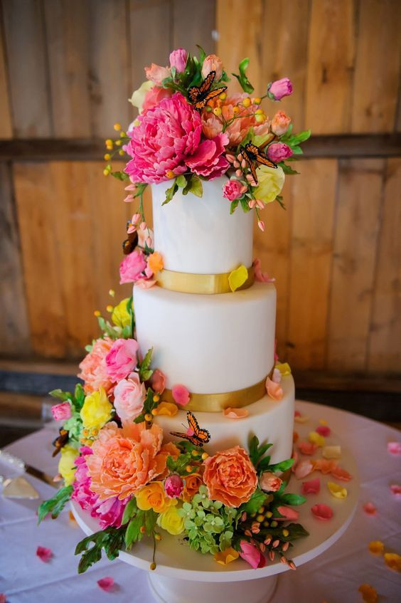Colourfull wedding cake