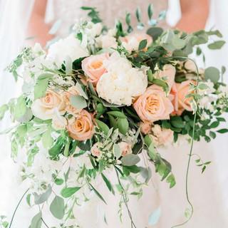 Pale peach & Ivory Wedding bouquet