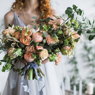 No 2. Large Peach hand tied bouquet