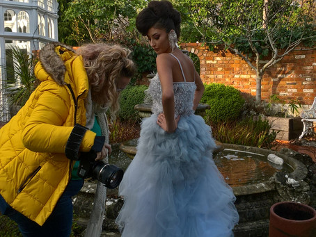 Behind the scenes of a photoshoot...