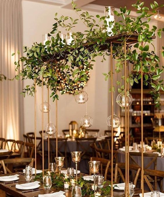 Foliage over the top table