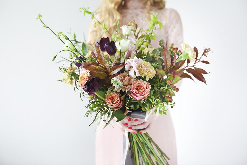 Wild style wedding bouquet