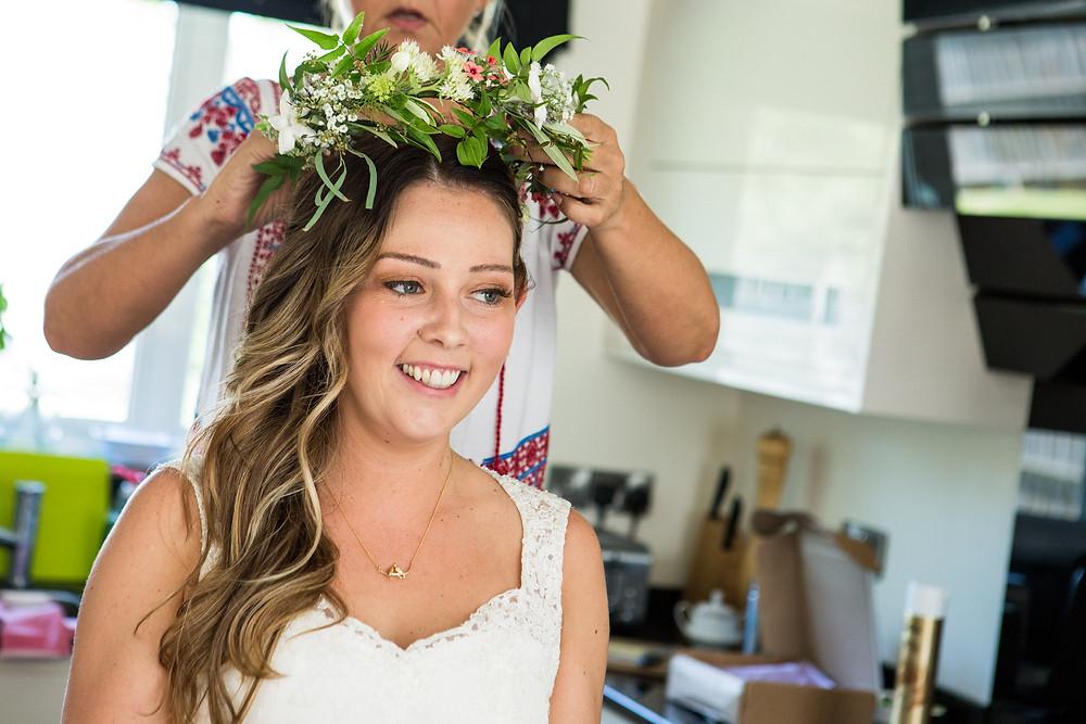 Jasmine floral crown