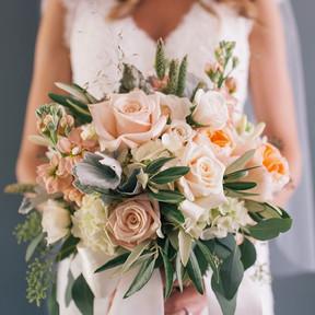 No 7. Blush pink & Coral wedding bouquet.jpg