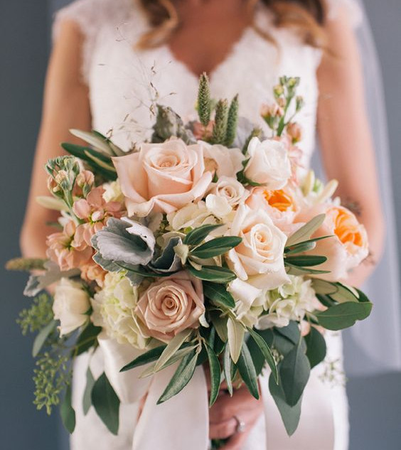 No 7. Blush pink & Coral wedding bouquet.jpg