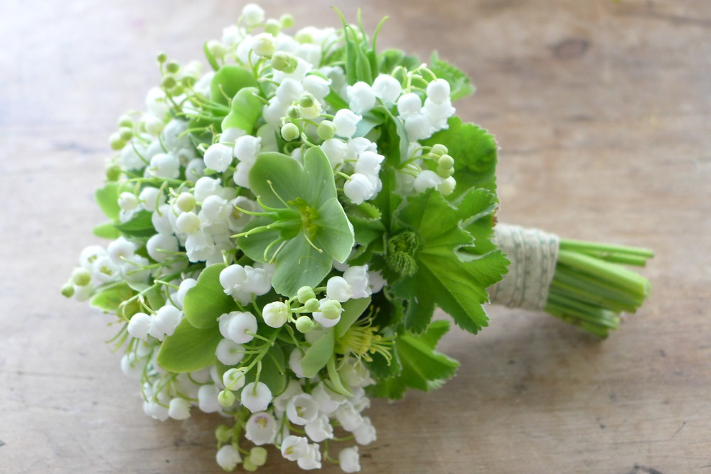 Lily of the valley wedding posy