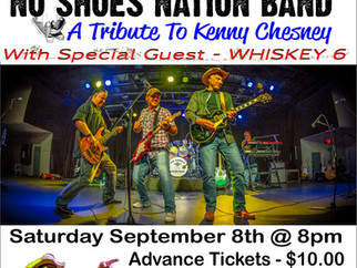 NO SHOES NATION BAND RETURNS TO BREAKAWAY                                  Saturday 9/8/18