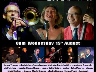 Our next date at Belvedere Jazz in Essex is just over two weeks away.  Come along for a guaranteed s