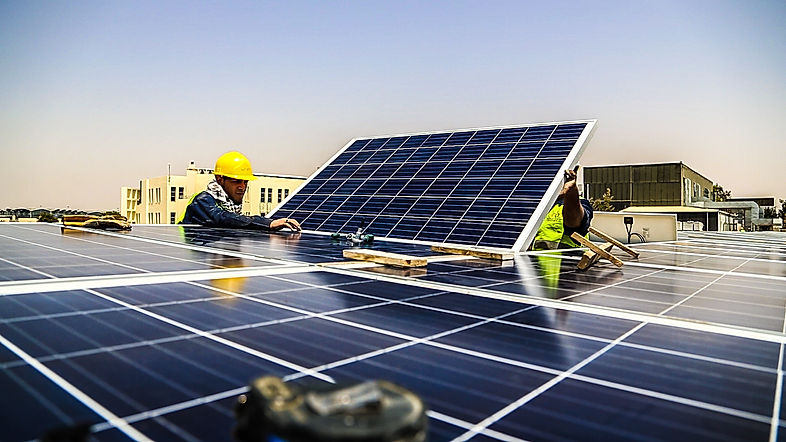 Solar Installation ,Green solutions installation for solar in amman jordan, first company to install commercial solar in the queen alia airport zone