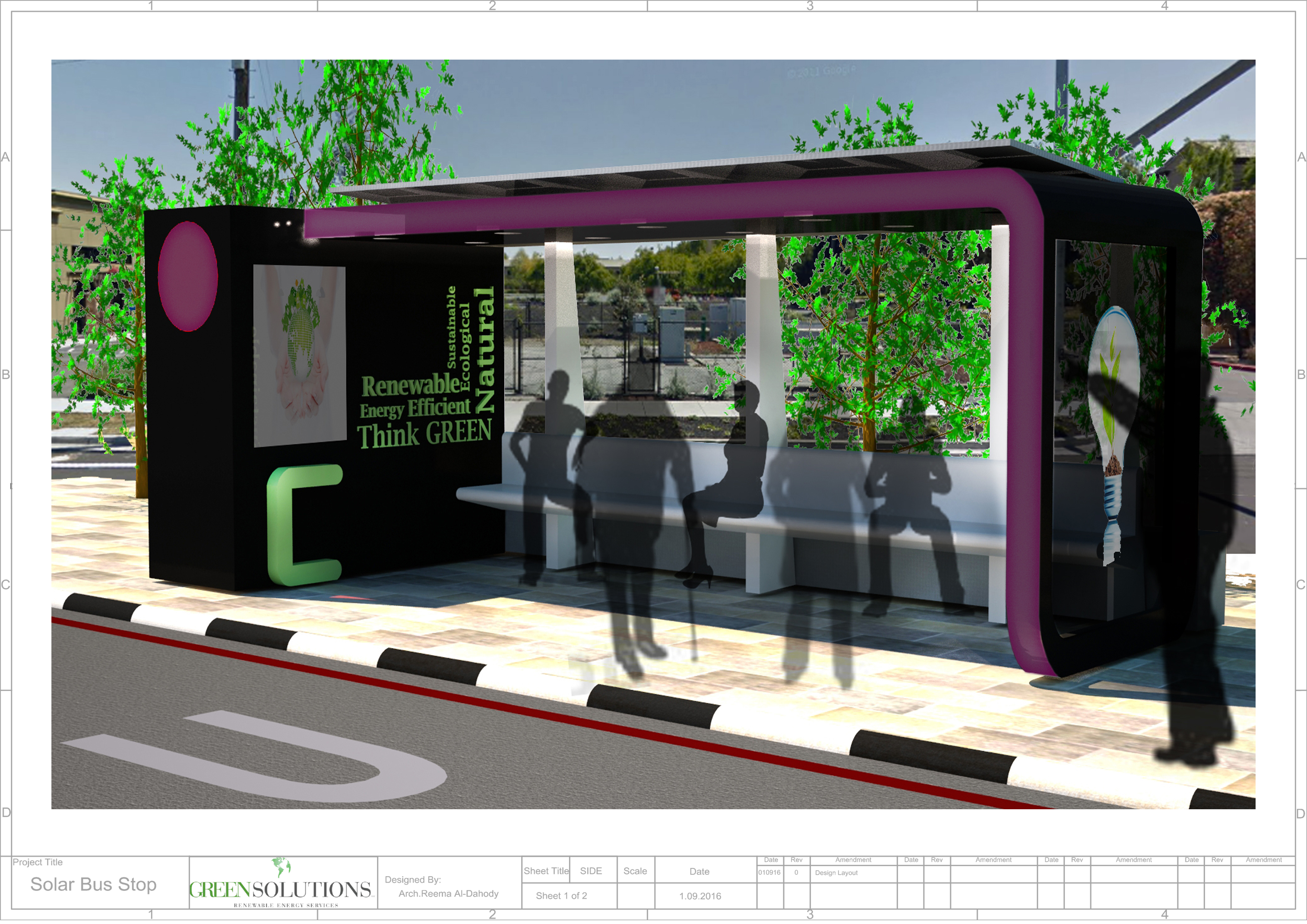 Solar Bus Stop Concept
