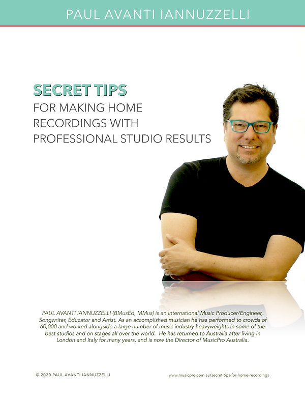 Secret Tips For Making Home Recordings A