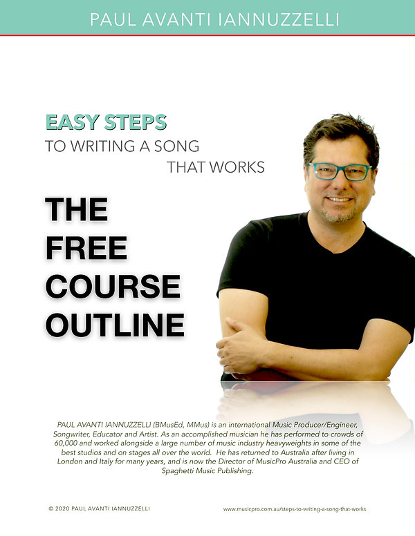 EASY STEPS TO WRITING A SONG THAT WORKS