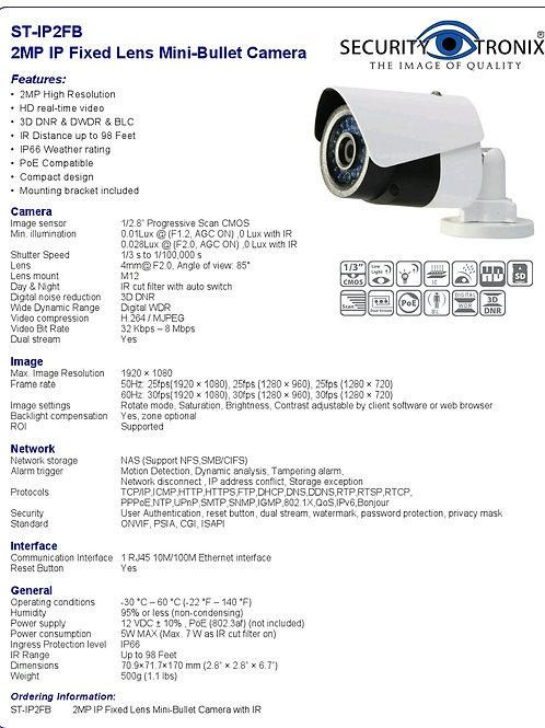 2 MP Fixed mini bullet camera