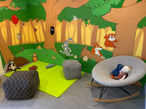 Mur de la salle pédiatrie