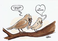 Oiseaux Romantique
