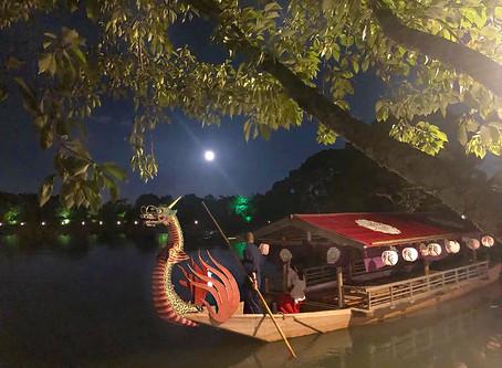 다이카쿠지(大覚寺)에서의 저녁 달구경