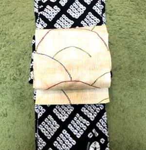 시보리(絞り)의 유카타(浴衣)