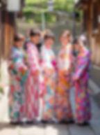 5명, 여자기모노, 기모노여행
