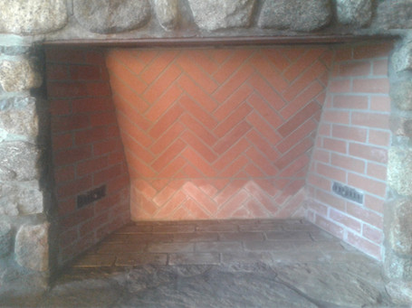 Firebox Rebuilt In Herringbone Pattern