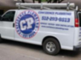 Confidence Plumbing Mobile Service Vehicle