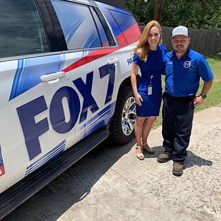 Austin Fox 7 News interviews Confidence Plumbing