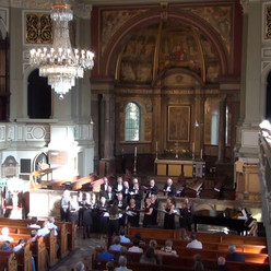 Performing Dashing Away (arr. Rutter) at St Marylebone Church