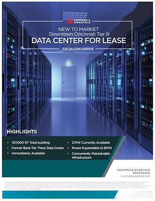 Tier III New to Market Data Center for Lease in Downtown Cincinnati