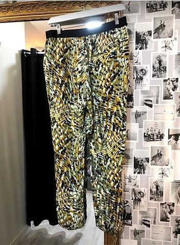 Pantalon fluide vert et noir photo1.jpg