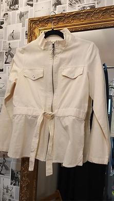 Veste style saharienne en coton couleur