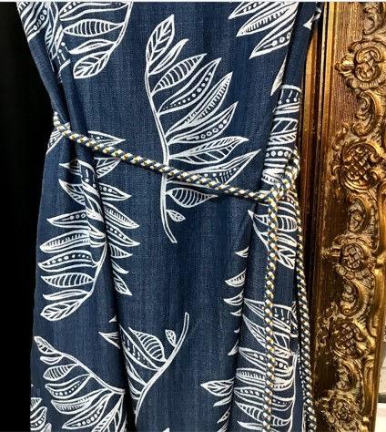 Robe longue à manches courtes bleu photo