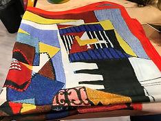 Petit carré de soie multicolore 3 photo1