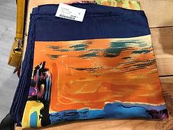 Carré de soie bleu orange photo1.jpg