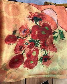 Petit carré de soie multicolore 2 photo1