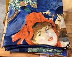 Crré de soie visage bleu orange photo1.j
