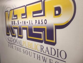 Hear us on KTEP Saturday