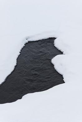 Snö på vatten