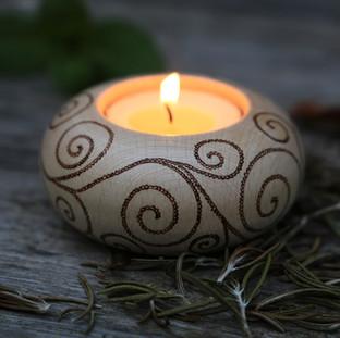 "Kerzenhalter ""Wellen"" für Angelika"