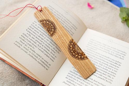 "Lesezeichen aus schönem Eschenholz ""Mandala"""