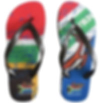Custom flip-flops and clothing