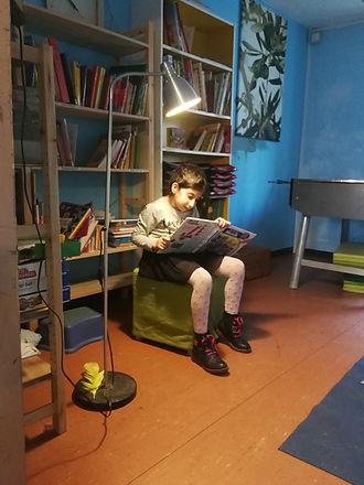 Es gibt viele Kinderbücher am ASP Rennbahnweg.