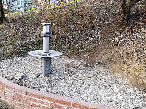 Auch einen Brunnen gibt es am ASP Rennbahnweg.