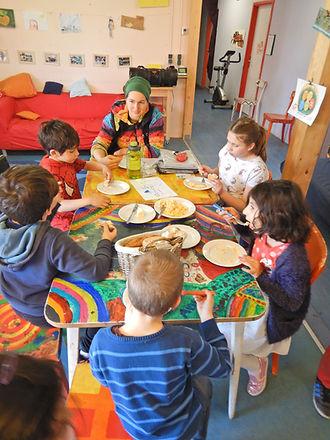Gustokörberl im Kidsbereich vom ASP Rennbahnweg.