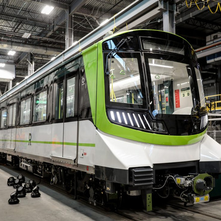 First look at the REM Train Cars