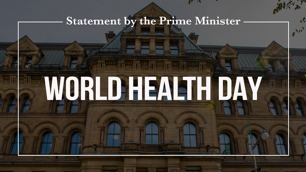 Today, on #WorldHealthDay2021, we reflect on how we can apply the lessons learned during the #Covid19 pandemic to build a stronger Canada, and a more inclusive and healthier world. Read Prime Minister Justin Trudeau's statement: