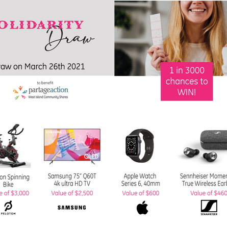 New Solidarity Draw for charity with exceptional prizes!