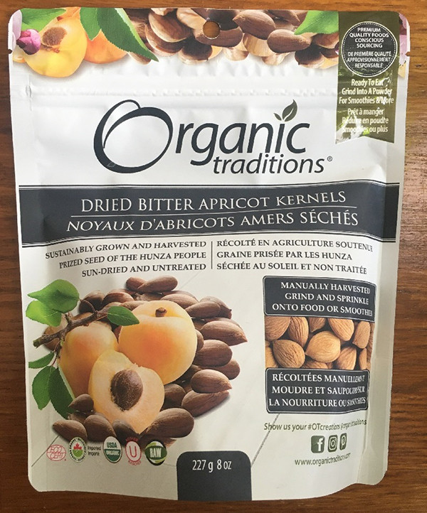 Food Recall Warning - Consumption of Organic Traditions brand Dried Bitter Apricot Kernels may cause cyanide poisoning
