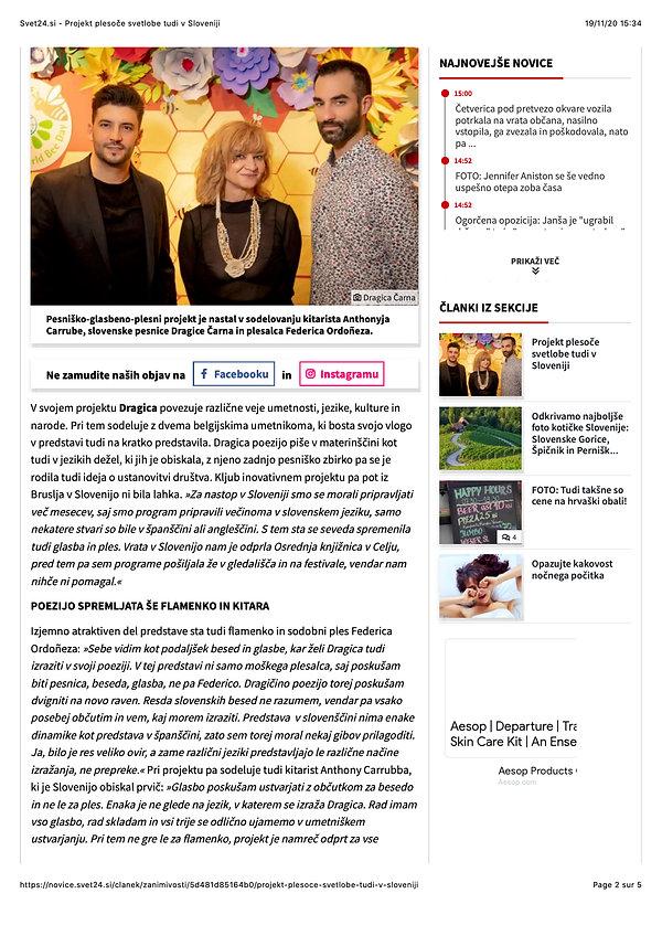 Svet24.si - Projekt plesoče svetlobe tud