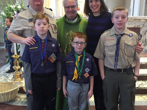 John Heggie Supports Faith Formation Cub Scouts