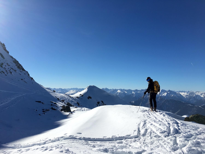 Bereit fuer die Abfahrt, Skitour Pirchkogel
