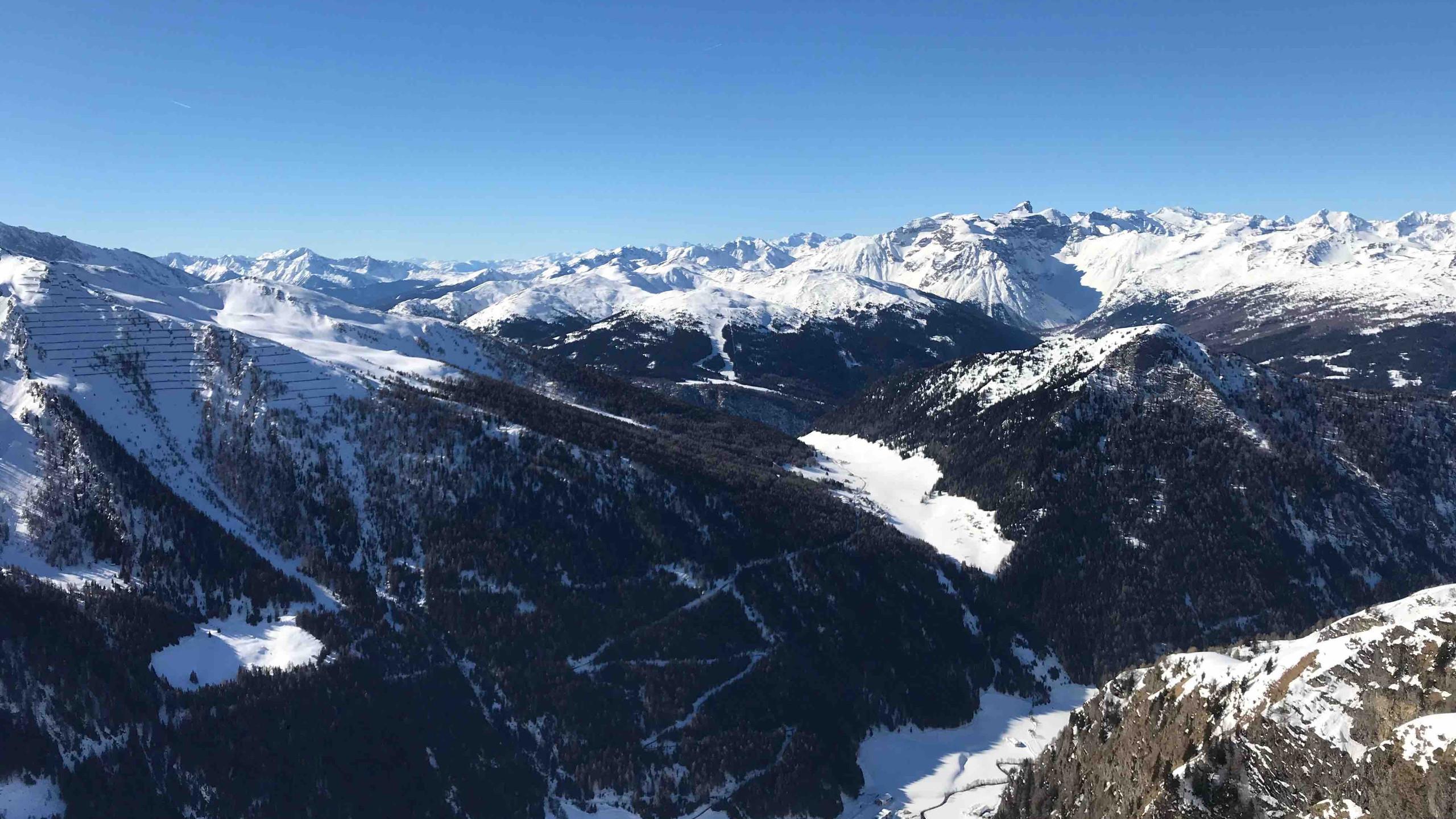 Ausblick am Gipfel, Skitour Riepenspitze